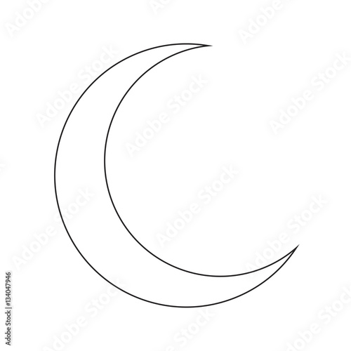 Crescent Moon Silhouette Vector Symbol Icon Design Stock Image And