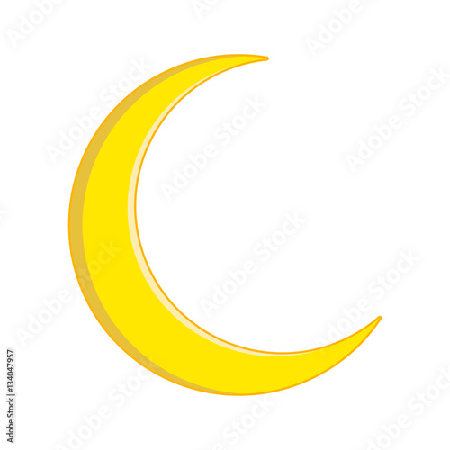 Crescent Moon Vector Symbol Icon Design Stock Image And Royalty
