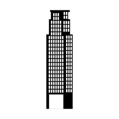 big building silhouette icon vector illustration design
