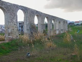 old abandonec aquaduct in larnaka