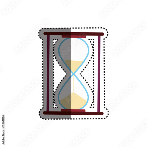quothourglass antique clock icon vector illustration graphic