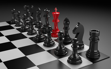 3D chess render