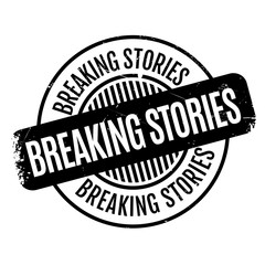 Breaking Stories rubber stamp