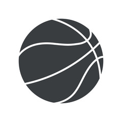 silhouette basket ball sport symbol icon vector illustration eps 10