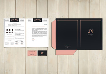 White and Pink Personal Branding Set