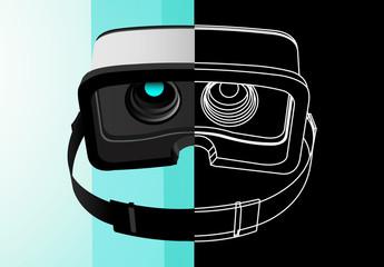 VR Headset Icon Set