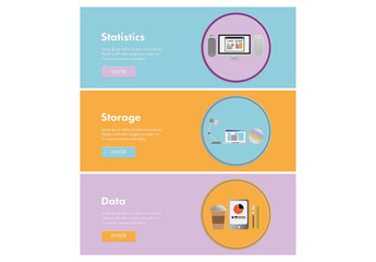 Statistcs, Storage, and Data Web Banners