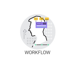 Workflow Business Process Collaboration Icon Vector Illustration