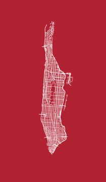 Map of Manhattan streets.