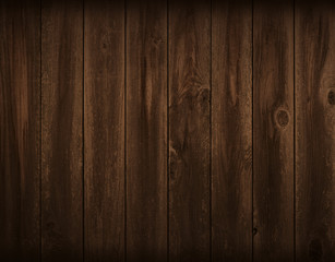 Dark flat wood board background. Wall paneling or wooden floor.
