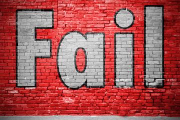 Fail Ziegelsteinmauer Graffiti