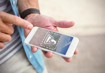 Smartphone in User's Hand Mockup 2
