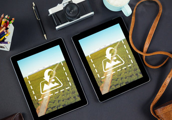 Two Tablets with Camera Mockup