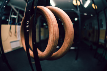 gymnastic rings in gym
