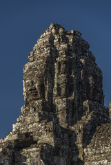 Angkor Wat temple in hot sunny morning