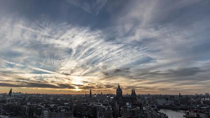 Amsterdam afternoon skyline