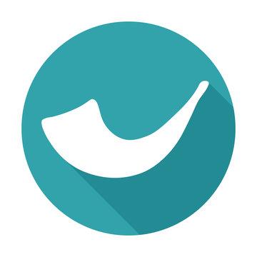 White image of shofar horn