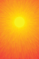 abstract sun flower vector graphics