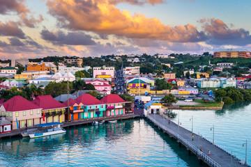 Poster Caraïben St. Johns, Antigua and Barbuda.