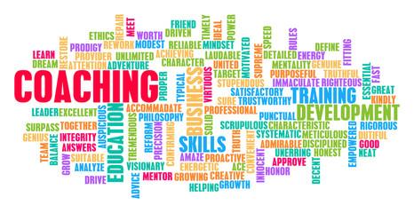 Coaching Word Cloud Concept