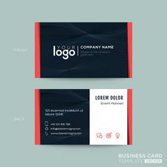 black business card namecard design