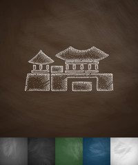 house icon. Hand drawn vector illustration