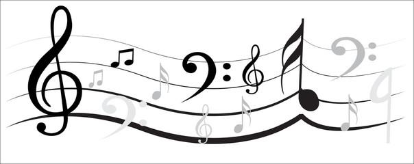 Music Note with Music Simbols