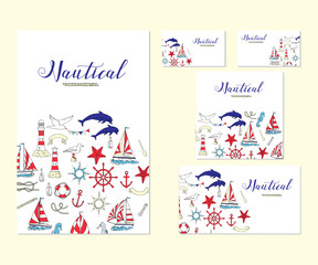 Template corporate identity with nautical elements