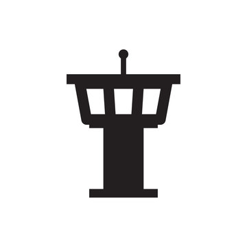 airport tower icon illustration