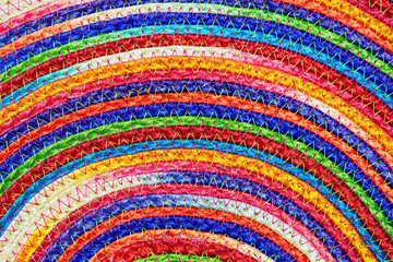 Colorful woven sisal wool rug taxtures & background
