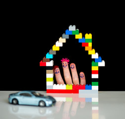 Family home and car concept