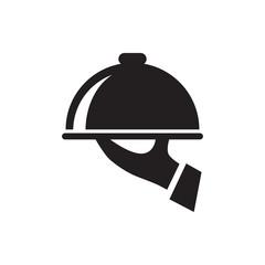 dish serving icon illustration