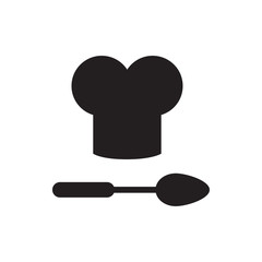 chef hat and spoon icon illustration