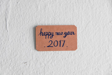 "Vintage ""Happy New Year 2017' card"