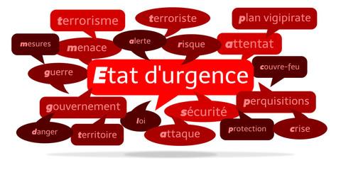 Nuage de Mots État d'urgence v3