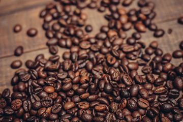 coffee grains close-up