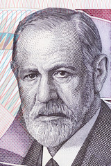 Sigmund Freud portrait from Austrian money