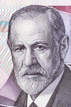 Sigmund Freud portrait from Austrian money