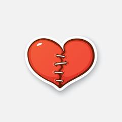 Sticker broken heart