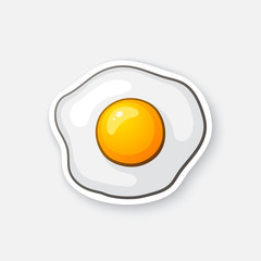 Sticker one fried egg