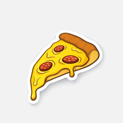 Sticker pizza slice