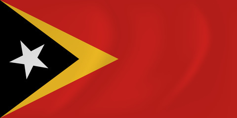 East Timor waving flag