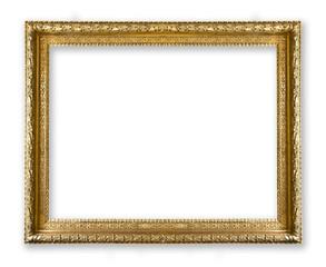 frame gold isolated on white background