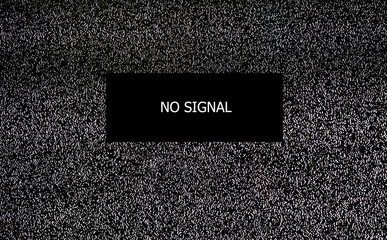 No signal TV, Seamless texture with television grainy noise effect for background. Wall mural