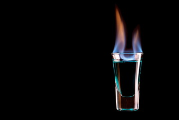 burning glass shots