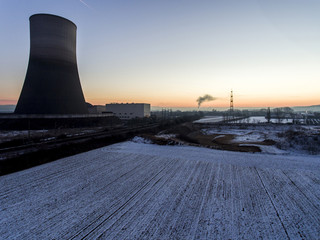 nuclear power plant sunset sunrise Radiation soil environment