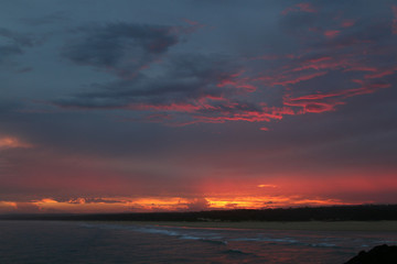 Sunset from near Sawtell, NSW Australia