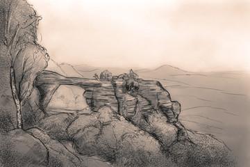 pravicka brana sketch