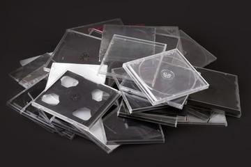 Custodie CD vuote da riciclare