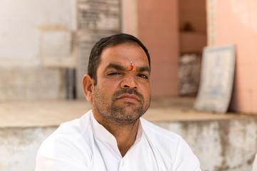 Indian hindu man in Pushkar, India